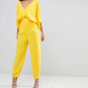 NWT ASOS Tall | Vivid Yellow Jumpsuit